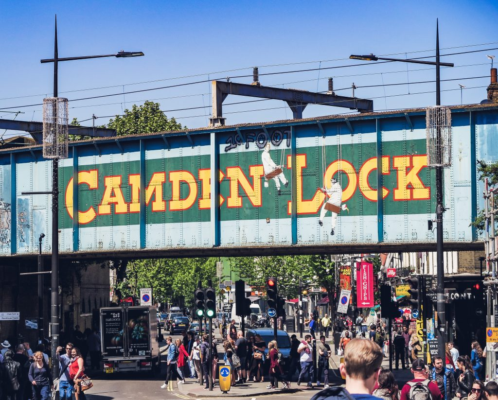 Camden Market with people