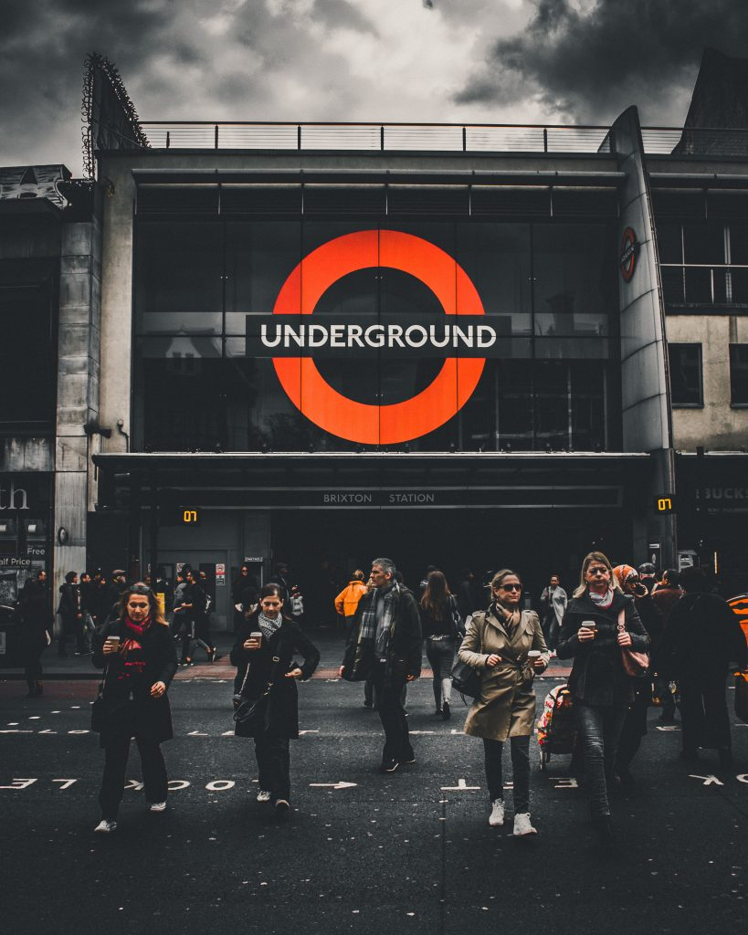 A crowded London Underground